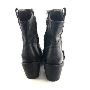 Harley-Davidson Shoes - Harley Davidson Leather Black Biker Boots Sz 9